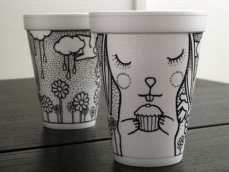 Печать на бумажных стаканах, бумажные стаканы с логотипом