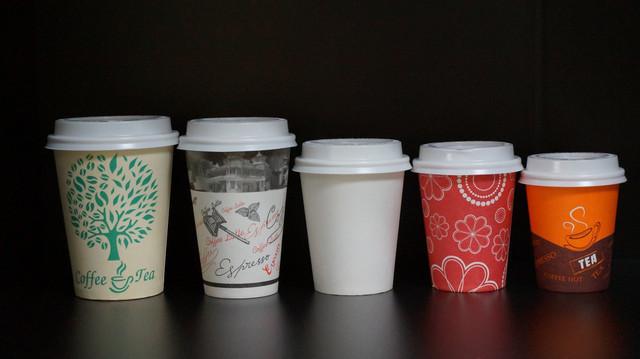 Разновидности бумажных стаканов для кофе